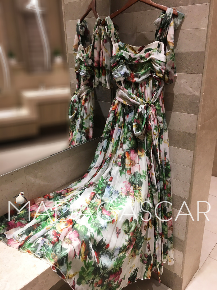 women's Boho style long dress women Of shoulder beach summer dresses Floral print Vintage maxi dress silk 2