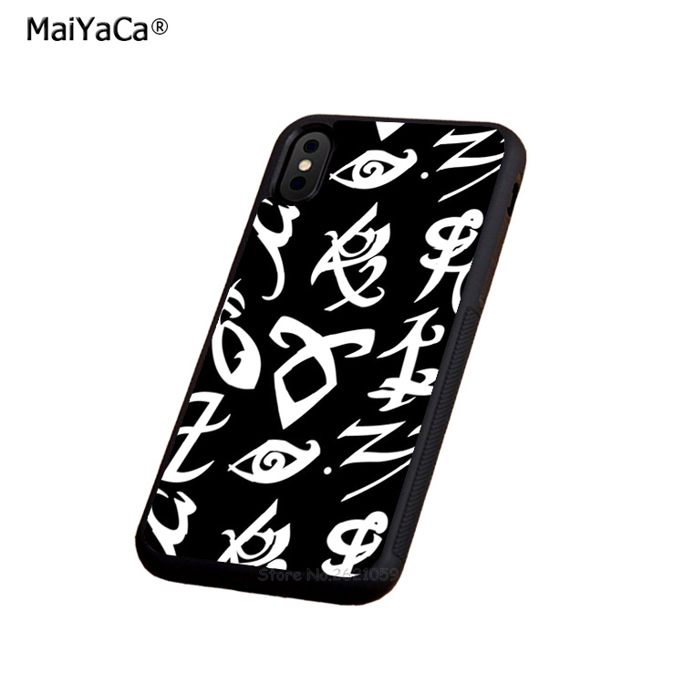 white hunters rune soft silicone edge cellphone cases for apple iPhone x 5s SE 6 6s plus 7 7plus 8 8plus XR XS MAX case in Half wrapped Cases from Cellphones Telecommunications