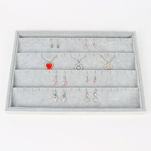 LAN LIN jewelry display tray gray velvet earrings receive tray fashion Jewelry Display Show Case earring receive storage plate