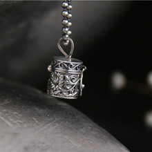 купить Lotus Carved Kwu Box Necklace Pendant For Women Necklaces & Pendants 925 Sterling Silver Jewelry Charms Jewellery Gift дешево