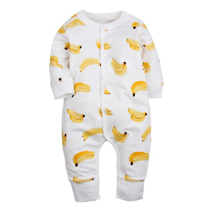 Newborn Baby   Romper   2016 Spring Autumn Baby Boy Girl Clothing Cotton Long Sleeve bebe Clothes Cartoon Kids Infant BabyJumpsuit