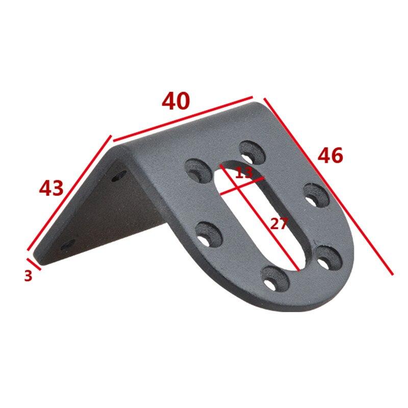 37GB DC Gear Motor Bracket Motor fixed seat Type L motor horizontal mounting seat