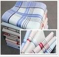 6 unids/lote 100% pañuelos de algodón hombres mujeres 40 * 40 cm Pocket Square bufandas de la tela escocesa de Hankerchief Vintage pañuelos