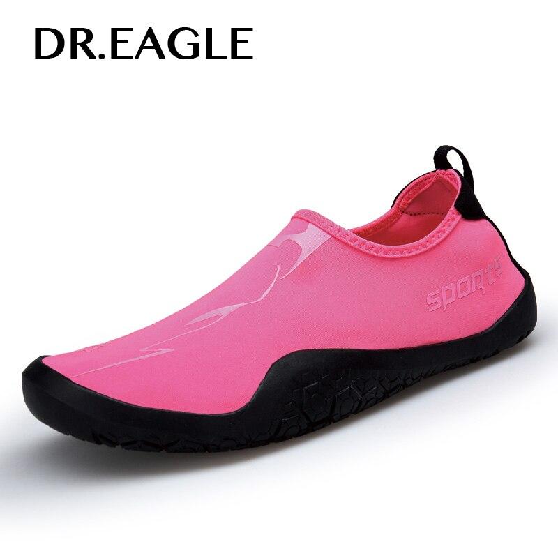 Dr. eagle femmes chaussures de sport pour la natation et la plage pour les femmes chaussures d'eau en caoutchouc sans lacet Flexible piscine plage natation Surf Yoga chaussure