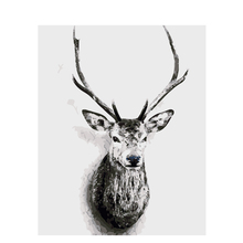 Oil Painting by Numbers Drawing on Canvas Grey Deer Decoration Pictures by Numbers for Living Room DIY Home Decor Art swan painting by numbers decoration oil painting for living room drawing by numbers