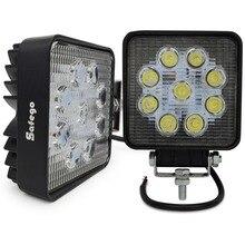 цена на 2pcs Work Lights Spot Flood Beam 27w LED Work Lamp Tractor Boat Off-Road 4WD 4x4 12v 24v Truck SUV ATV Car LED Work Light