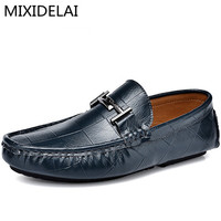 Designer Slip On Men Shoes Casual High Quality Italian Fashion Driving Shoes Men Loafers Luxury Brand