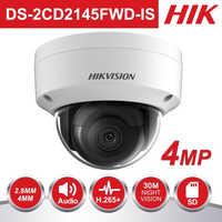 HIK PoE IP Kamera Outdoor DS-2CD2145FWD-IS 4MP CMOS IR Dome CCTV Sicherheit Kamera 30 m Nacht version POE & Audio