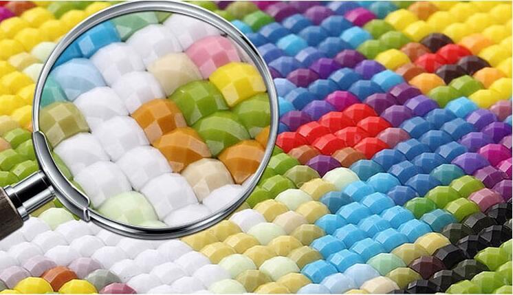 Új mozaik teljes gyémánt festmény hímzés gyöngyök Gyönyörű - Művészet, kézművesség és varrás - Fénykép 5