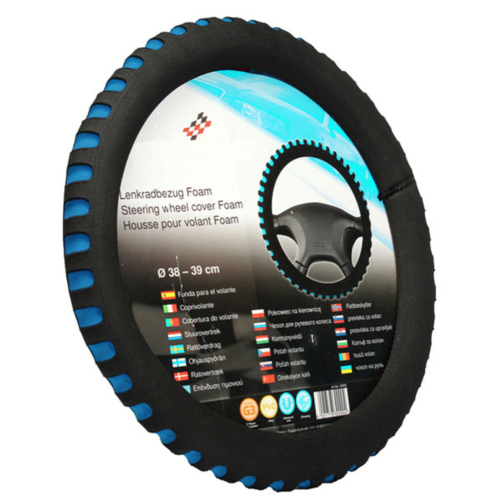 Steering Covers: HIgh Quality EVA Universal Car Steering Wheel Cover Diameter 38cm Automotive Sup 3 Colors Soft EVA Steering Wheel Cover