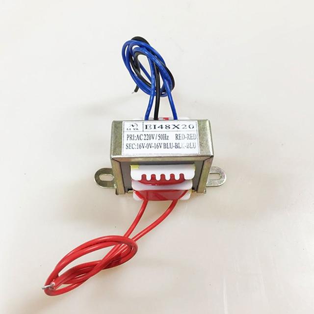 EI48 8 w 50/60 hz AC220V 8 w Entrada EI Transformador de Potência 380 v 110 v Saída Dual 12 v/Dual 6 v/Dual 24 v/Dual 18 v Duas linhas