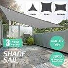 300D Waterproof Polyester Rectangle Awning Sun shading net Sun Shade Sail Outdoor Sun Shelter Black Grey color