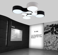 1 Pcs Metal Led Commercial Panel Lights Black White Project Industrial Lighting For Office Work Light