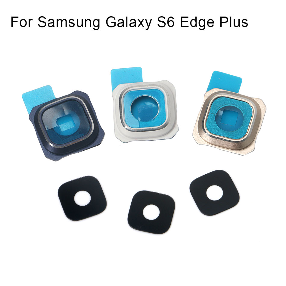 1set For Samsung Galaxy S6 Edge Plus New Rear Back Camera Glass Lens Cover With Frame Holder Replacement Repair Spare Parts