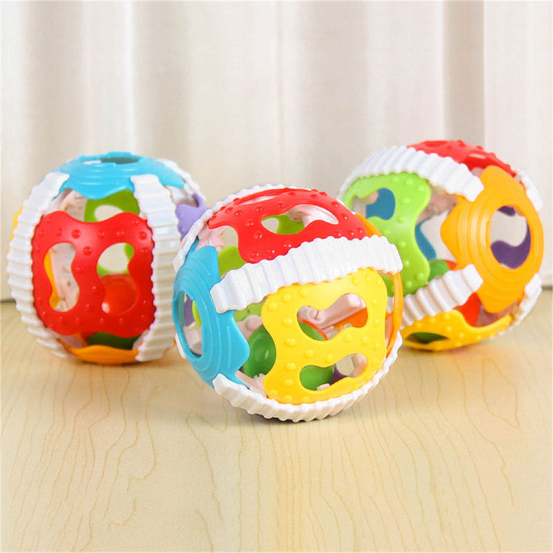 2019 Baby Toy  Loud Bell  Ball Toy Develop Baby Intelligence Activity Baby Gripping Rattles Hand Bell Toy Rattle