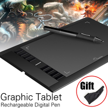 Promo offer Parblo A610 Art Digital Graphics Drawing Painting Board w/ Rechargeable Pen Tablet 10×6″ 5080LPI with Glove