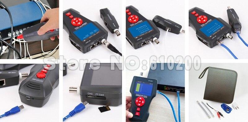 KOLSOL NF-8601W RJ45 RJ11 BNC Network Lan Cable Length Tester UTP STP Diagnose