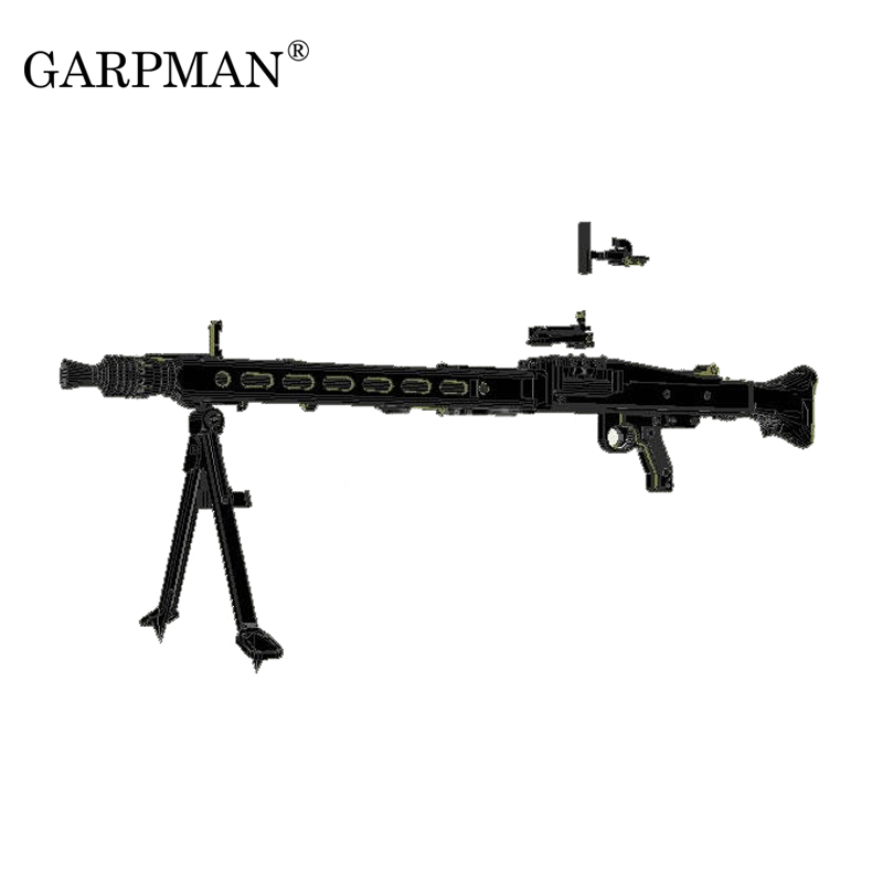 1:1 MG42 mitrailleuse lourde seconde guerre mondiale allemand général mitrailleuse arme 3D papier modèle