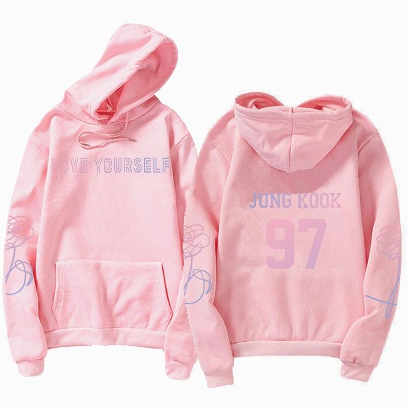 jungkook Unisex hoody kpop suga93 hoodies love KPOP weatshirt love yourself KPOP hoody sweatshirt  harajuku hoodies 11