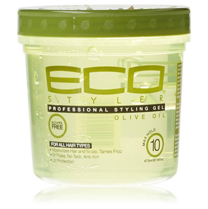 Eco Cheveux Style Gel D'huile D'olive 473 ml Hydratant Cheveux (16 oz) livraison gratuite