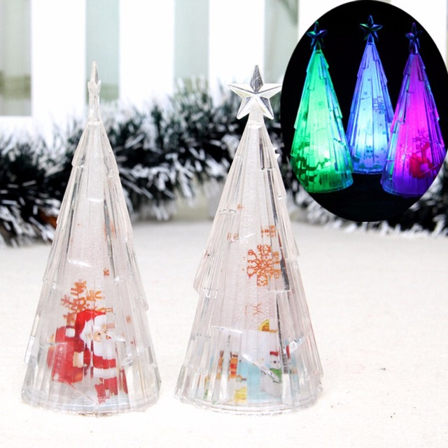 mini christmas trees xmas decorations in the desktop color changing christmas tree usb led table light - Desktop Christmas Tree
