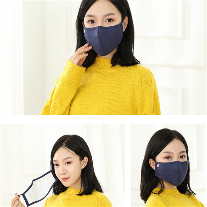 2pc New Winter Fog And Haze PM2.5 Activated Carbon Mask Can Adjust Pure And Multicolored Pure Cotton Warm Couple Masks Gifts