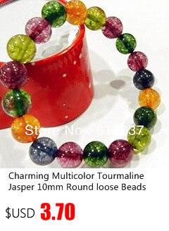 A56//2 - pack de 10 8mm Mat à rayures rouge ronde perle de verre
