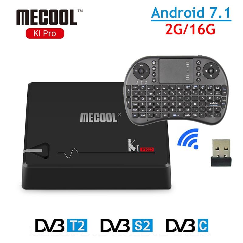DVB-T2 Android TV Box KI Pro Android 7.1 2GB ROM 16GB RAM Amlogic S905D DVB-S2 DVB-T2 Bluetooth 4.1 WiFi H.265 4K Media Player zidoo h6 pro tv box 2gb ram 16gb rom android 7 1 2 4g 5 0g wifi gigabit lan bluetooth 4 1 smart set top box