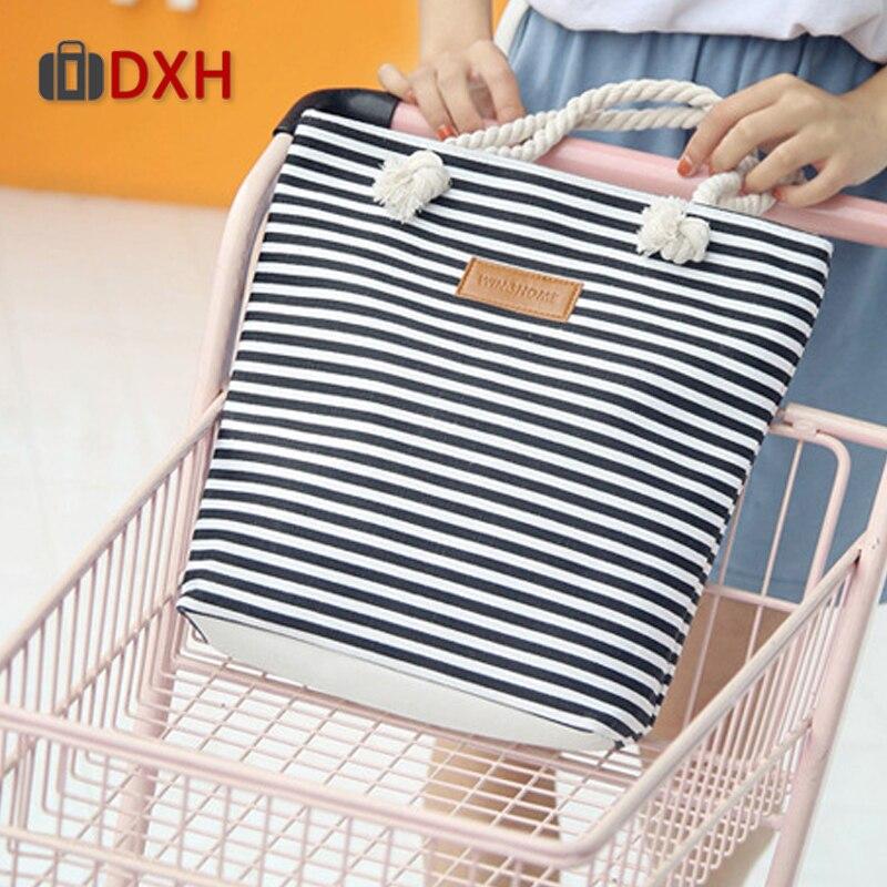 Cotton Bag Canvas Shoulder Handbags Bigs-Bags Beach-Messenger Women Fashion DXH Striped