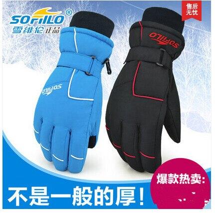 Prix pour Nouveaux hommes et femmes gants de Ski de Snowboard motoneige moto gants d'hiver coupe - vent imperméable unisexe gants de neige