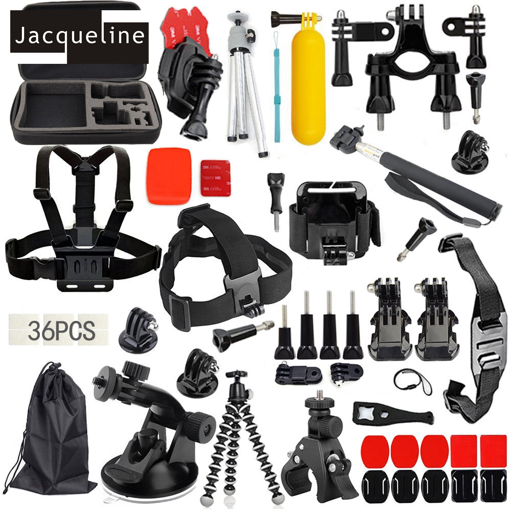 Jacqueline for Accessories Kit Set Bag for Gopro HERO 6 5 3+ 4 - Cámara y foto