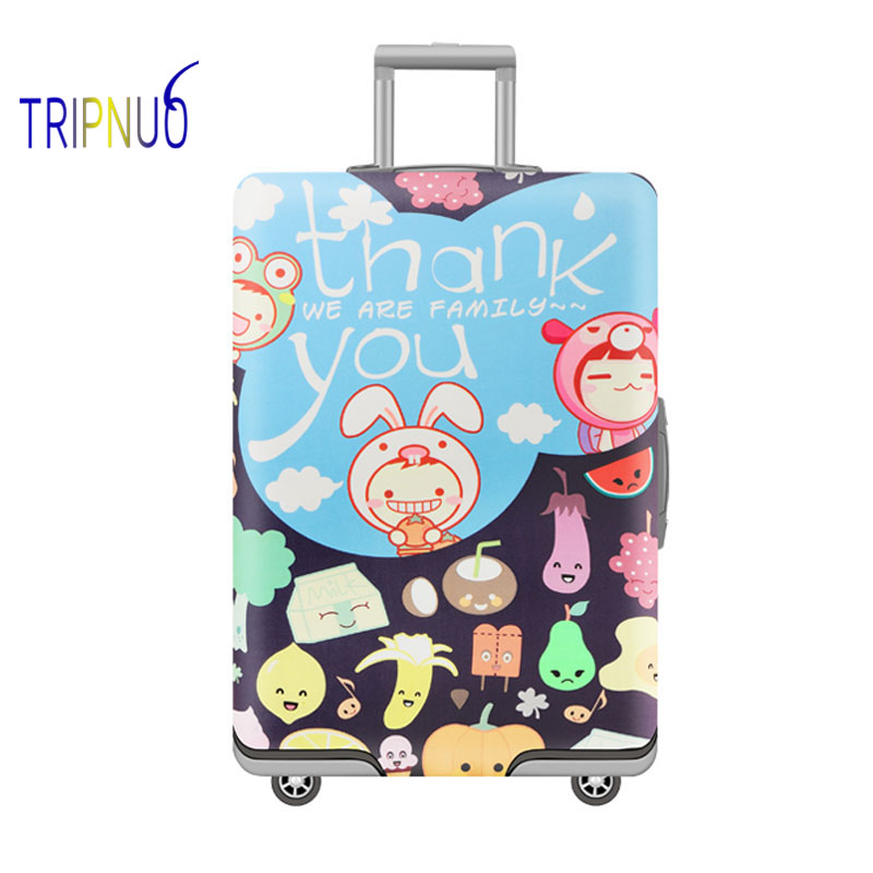 TRIPNUO Thickest Fruit Travel Luggage Suitcase Protective Cover, Stretch, Apply To 18-32 Inch Cases, Travel Accessorie