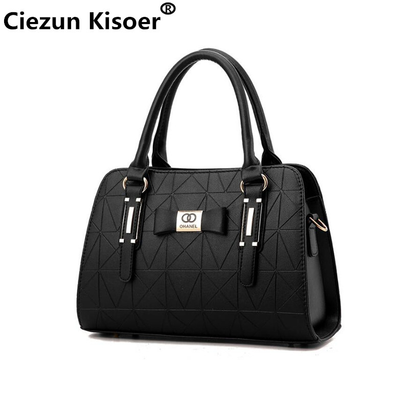 Ciezun Kisoer Designer Handbags Shoulder Bag Beauty Bow Women Retro Handbag Boston Messenger Bags For Female Louis sac a main 2017 fashion new high quality women designer shoulder bag beauty bow women retro handbag boston messenger bags genuine leather