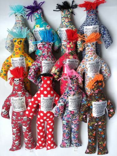 "Random Pattern Color Stress Relief 12/"" Dammit Doll Plush Toy"