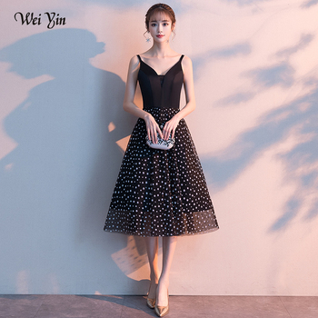 wei yin Evening Dresses Long Party 2019 Bohemian Evening Gown V-Neck Tea-Length Stretch fabric Women Banquet Formal Dress WY1720