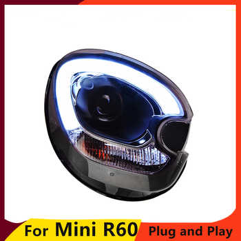 KOWELL Car Styling Car Styling For BMW mini R60 headlights 2007-2013 For R60 head lamp led DRL front Bi-Xenon Lens Double Beam
