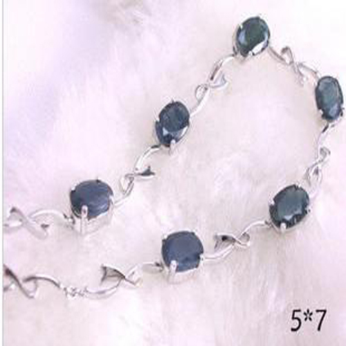 2017 Sale Qi Xuan_Free Mail Dark Blue Stone Elegant Bracelets_S925 Solid Silver Fashion Bracelets_Manufacturer Directly Sales nokia 230 dark silver