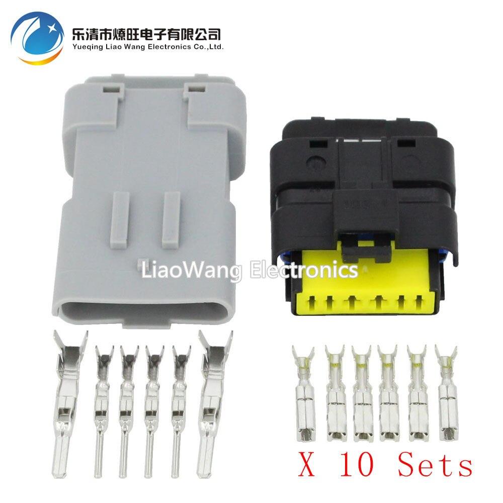 10 Sets throttle valve plug FCI plug with terminal DJ7067Y-1 5-11 / 21 car  connector 6P