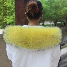 Натуральные куртки настоящий шарф Женское зимнее пальто женская теплая шаль роскошный толстый енот меховой воротник-шарф