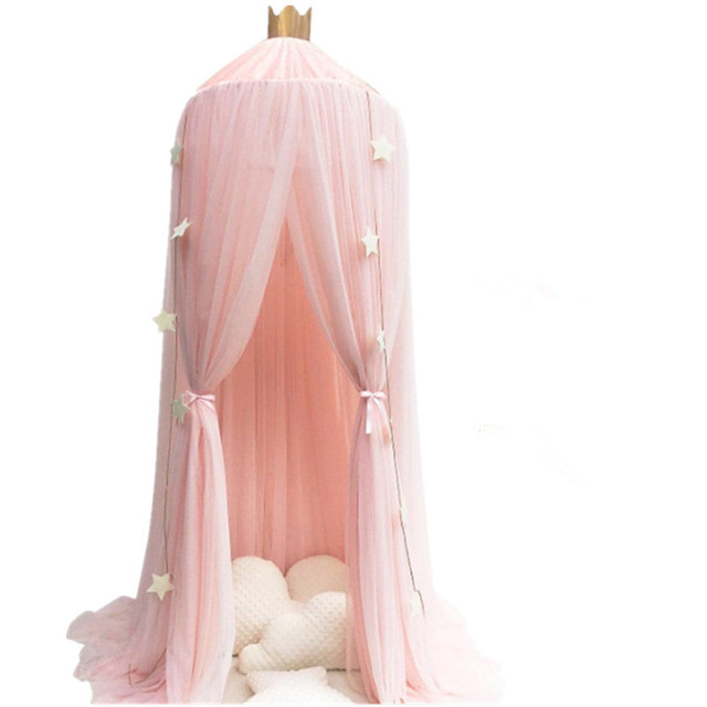 White Pink Gray Khaqi Princess Kids Crib Canopy Nursery Canopy Bed Canopies Play Room Nursery Playroom Decor Hanging Play Tent  sc 1 st  AliExpress.com & White Pink Gray Khaqi Princess Kids Crib Canopy Nursery Canopy Bed ...