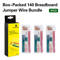 3PCS/LOT Keyestudio 140PCS Bread board dedicated lines/breadboard jumper wire
