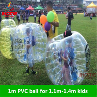 1m PVC Inflatable Bubble Soccer Football Ball for Children,Zorb Ball, inflatable human hamster ball, Bumper Ball bola de futebol