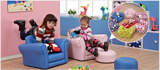 Children's Sofa Chair. Cartoon Cute Children Cloth Art Can Unpick And Wash. Lazy Little Sofa