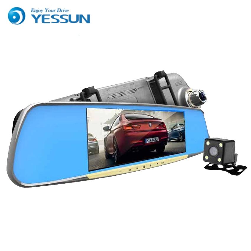 ZYroad 7 Screen Full HD 1080P Car Dual Camera Rearview Mirror DVR Video Recorder Dash Cam And Original Bracket IR Night Vision