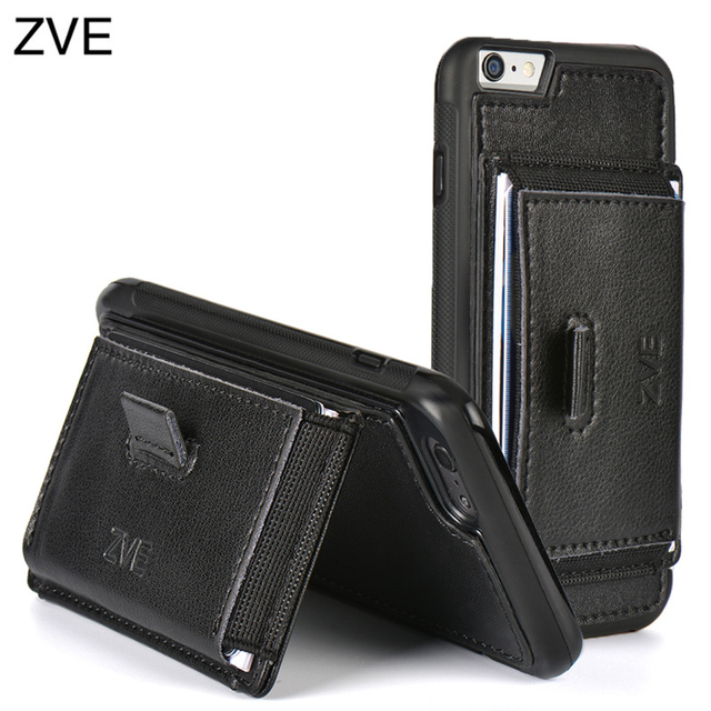 official photos d5291 68246 US $16.69 |ZVE Magnetic Leather case with stand and card wallet for iPhone  6 4.7inch/plus 5.5,case cover for iphone 6 on Aliexpress.com | Alibaba ...