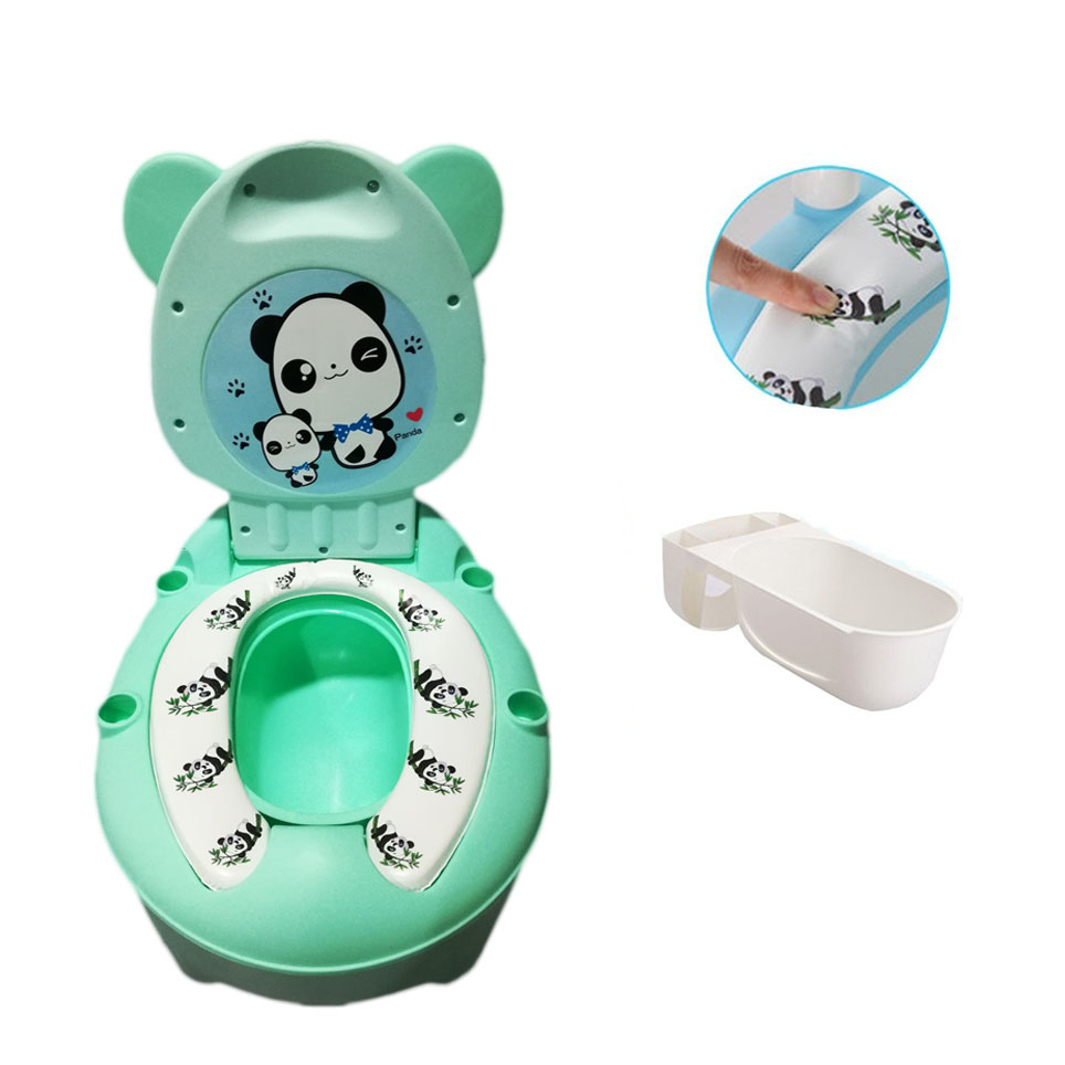 Panda Baby Potty Toilet Bowl Cute Cartoon Training Pan Training Seat Children Bedpan Portable Urinal Comfortable Backrest Pot