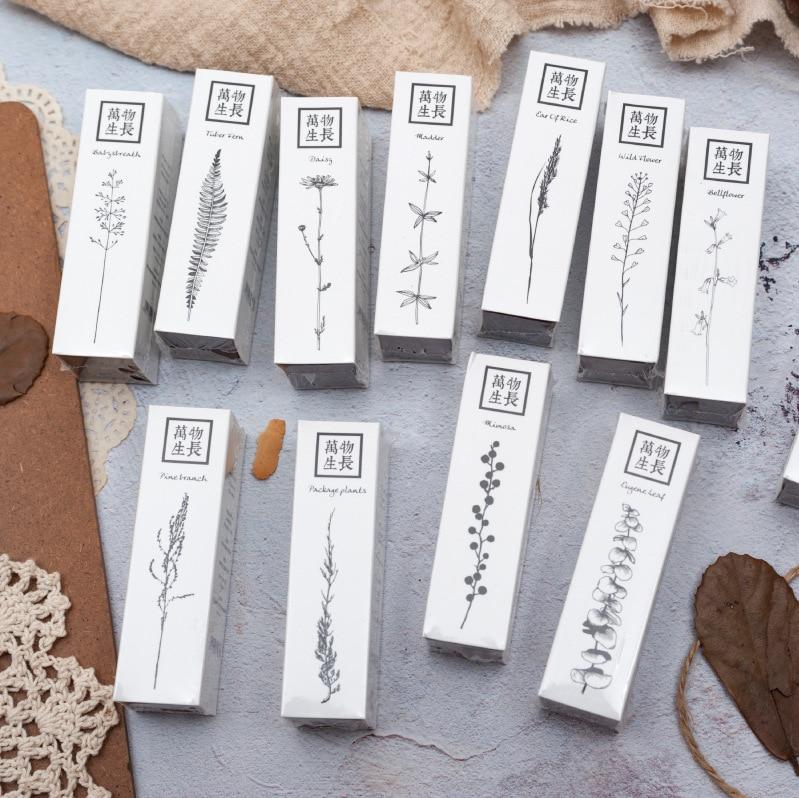 TUNACOCO Inkpad Plant Stamp Seal Signet Social Application Flower Stamps For Bullet Journal DIY Crafts Qt1710120