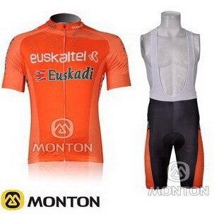 2012 2013 EUSKADI EUSKALTEL TEAM Men s Cycling Jersey Short Sleeve Bicycle Clothing With Bib Shorts