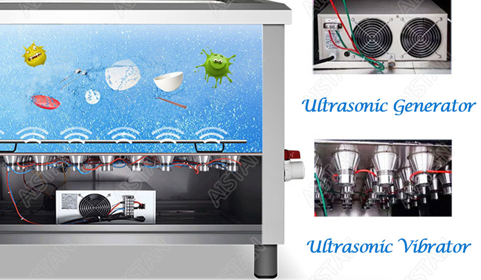 CSB60/CSB80 automatic ultrasonic dishwasher machine for commercial kitchen dish washing 11