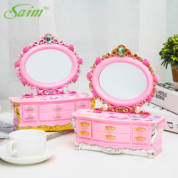 Saim Rotating Music Box Decoration Dancing Ballet Girl Music Jewelry Box Cute Musical Box Children